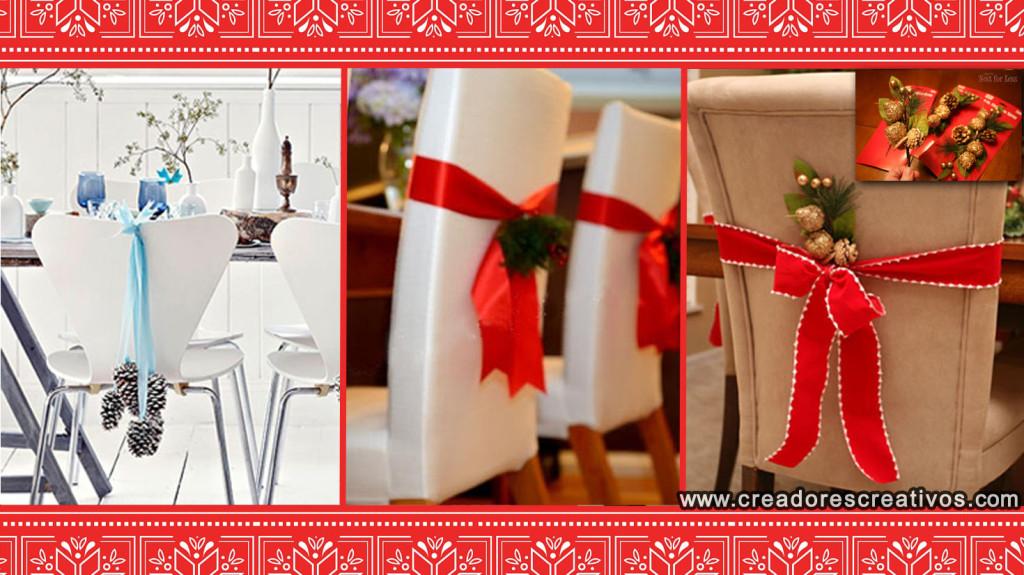 Decoraciones Navidenas para el Hogar (sillas)