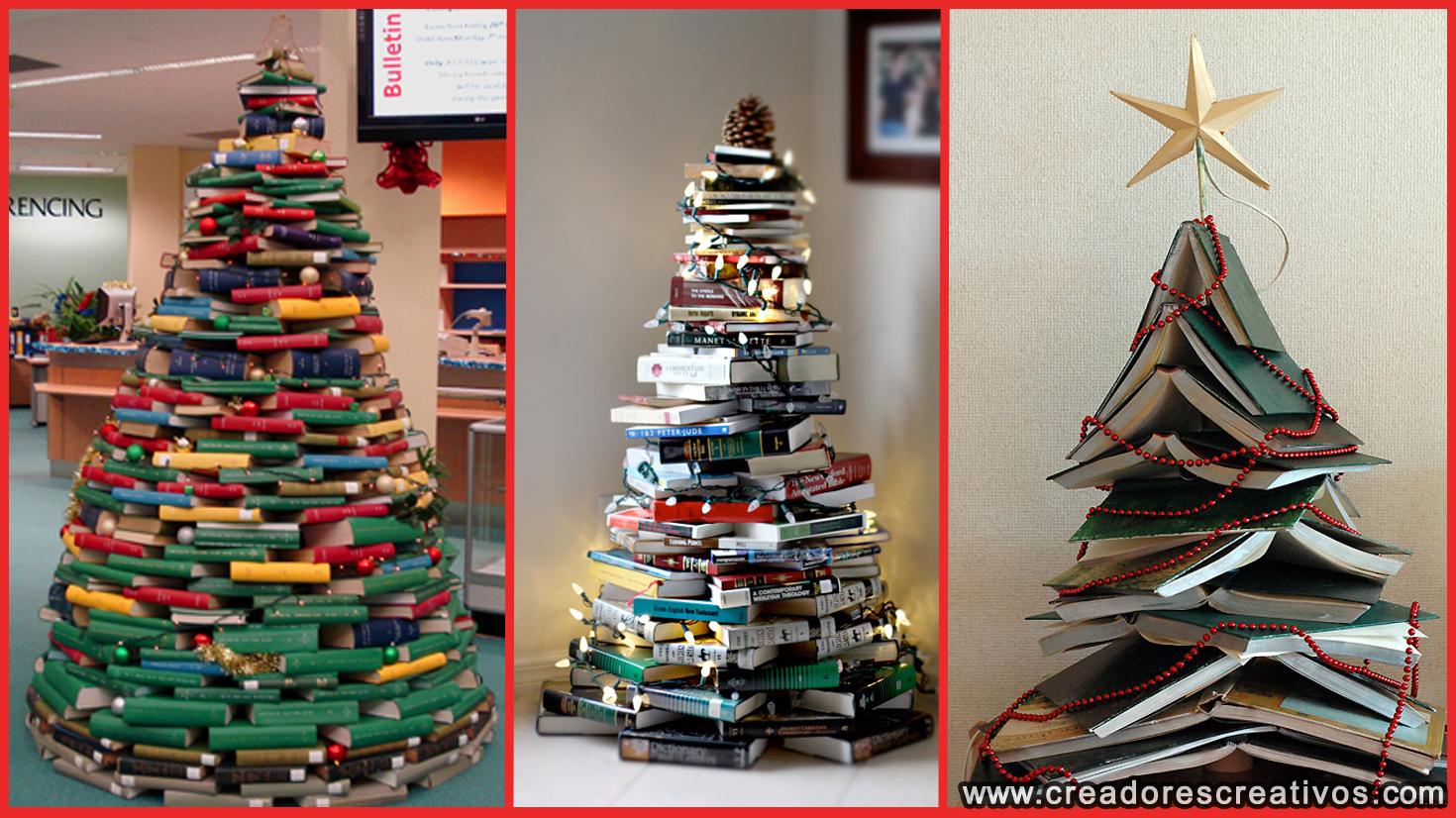 Arboles de navidad creativos creadores creativos - Arbol de navidad con libros ...