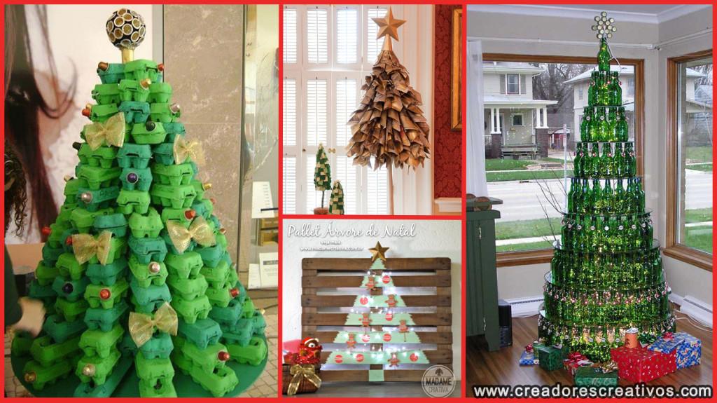 Arboles de Navidad Creativos (reciclados)