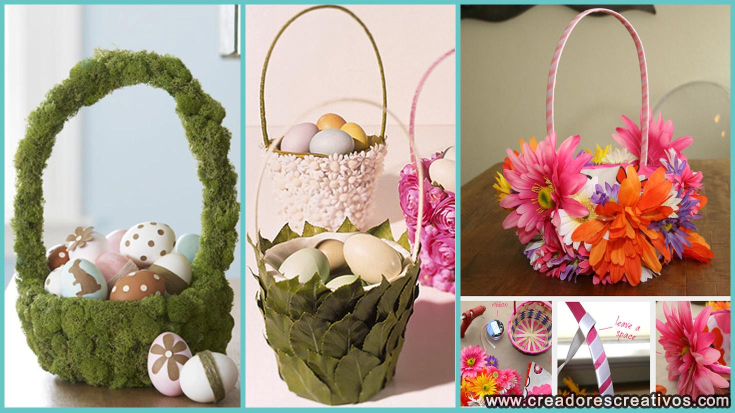 Canastas del Día de Pascua (flores)